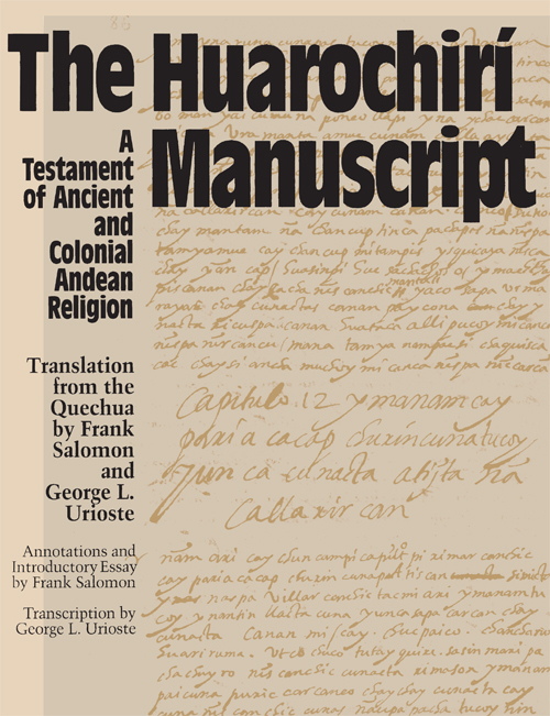 Cover of The Huarochirí Manuscript