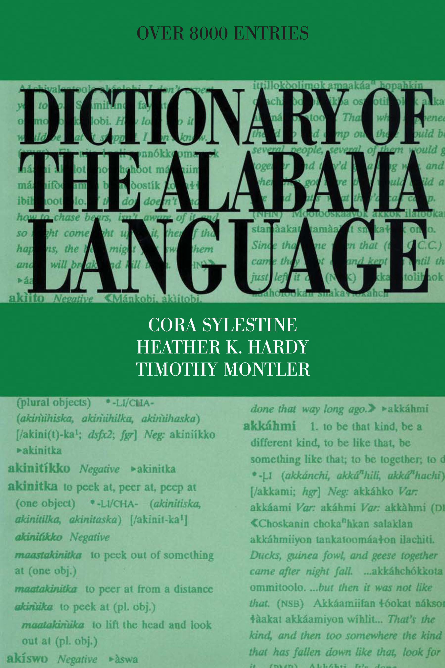 Cover of Dictionary of the Alabama Language