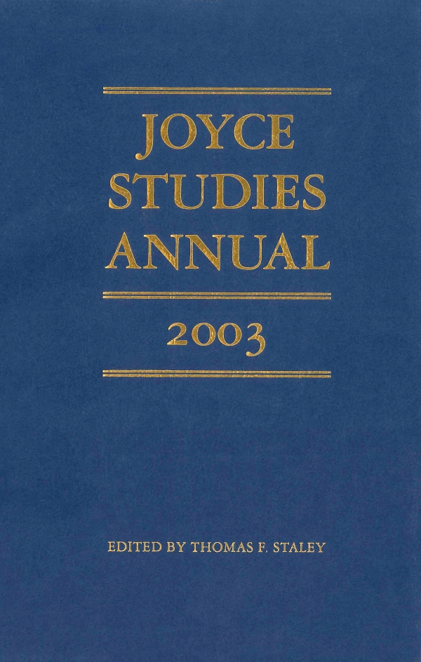 Cover of Joyce Studies Annual