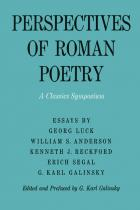 Cover of Perspectives of Roman Poetry