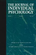 Cover of Journal of Individual Psychology